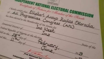 'It is God's time' former Governor, Okorocha reacts after receiving Certificate of Return from INEC