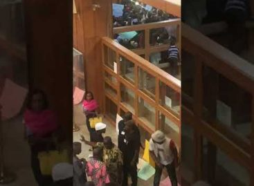 Protesting workers shut National Assembly, demand salaries and allowances