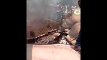 Footage Of Nigeria Air Force Plane Crash