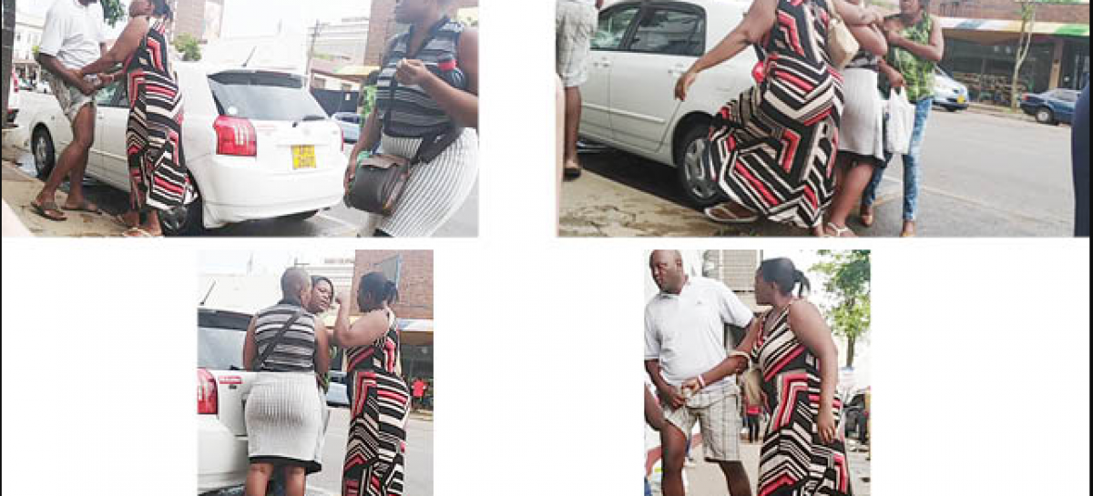 Drama, as wife grabs cheating husband on his 'JT' in public