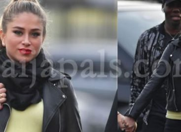 Paul Pogba's girl friend happily displays pregnancy at Old Traford