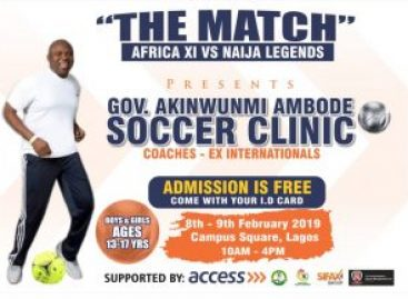 Siasia, Waidi, others honour Ambode with soccer clinic