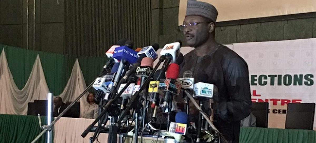 INEC Chairman says Card Readers Will Automatically Shut Down By 10PM On Election Day