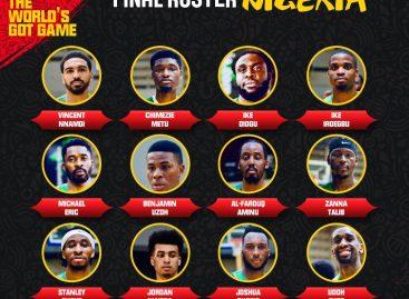 FIBA World cup: Diogu, Aminu, Okogie, Jordan top D'Tigers 12 man list