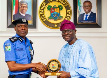 (Pix)Lagos Governor to IGP: Adequate Security Central To Lagos Economy
