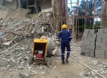 4 RESCUED IN 2–STOREY BUILDING COLLAPSE AT GLOVER COURT, IKOYI, LAGOS
