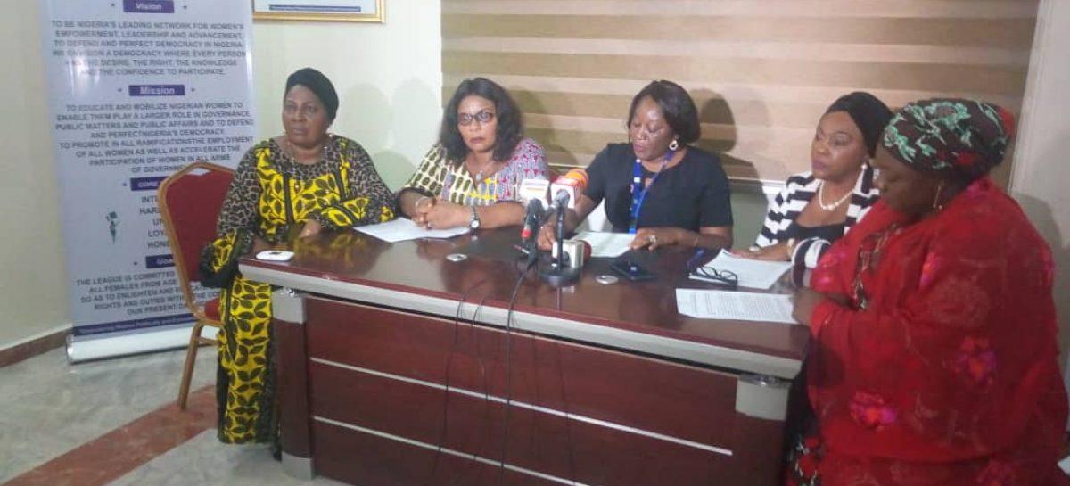 League of Women Voters, (NILOWV) pick holes in Kogi, Bayelsa elections