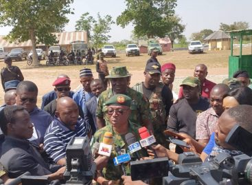 DHQ EMBARKS JOURNALISTS ON TOUR OF OPERATION WHIRL STROKE