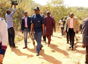 Engr. Sule visits Farin Ruwa falls, dam to take stock, appraises prospects