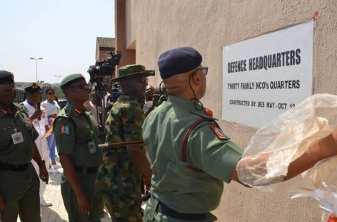DHQ Commissions Residential Quarters For Non Commission Officers in Abuja