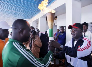 GOVERNOR SULE RECEIVES 2020 NATIONAL SPORTS FESTIVAL TORCH OF UNITY