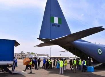 COVID-19: NIGERIAN AIR FORCE AIRLIFTS MEDICAL MATERIALS FROM LAGOS TO ABUJA