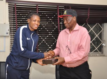 NOC PRESENTS GIFT TO OLYMPIAN