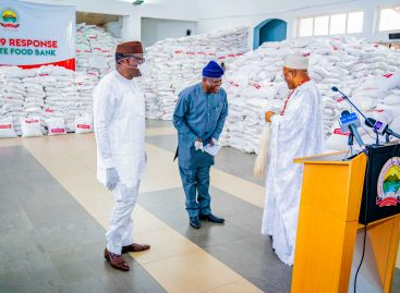 COVID-19: FAYEMI FLAGS OFF FOOD DISTRIBUTION TO VULNERABLE PEOPLE