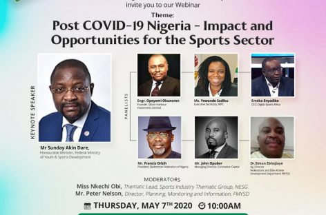 FMYSD, NESG to Chart Course for the Sports Sector in Nigeria Post COVID-19