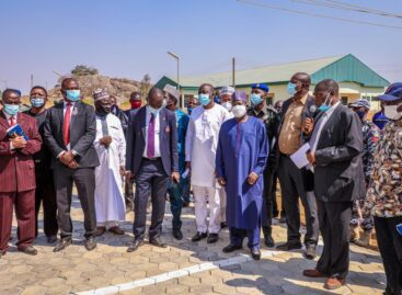 (photos) GOVERNOR LALONG INSPECTS PROJECTS AT PLATEAU STATE UNIVERSITY BOKKOS…URGES ASUU TO CALL OFF STRIKE.