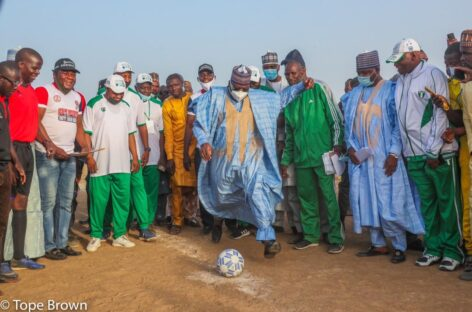 Senate President shines at soccer finals in Yobe