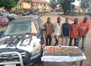 Police showcases  dangerous arms intercepted in Abakiliki