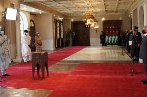 Amb. Yabo presents letters of Credence to King Ibn Al Hussein of Jordan
